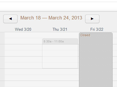 View Facility Events