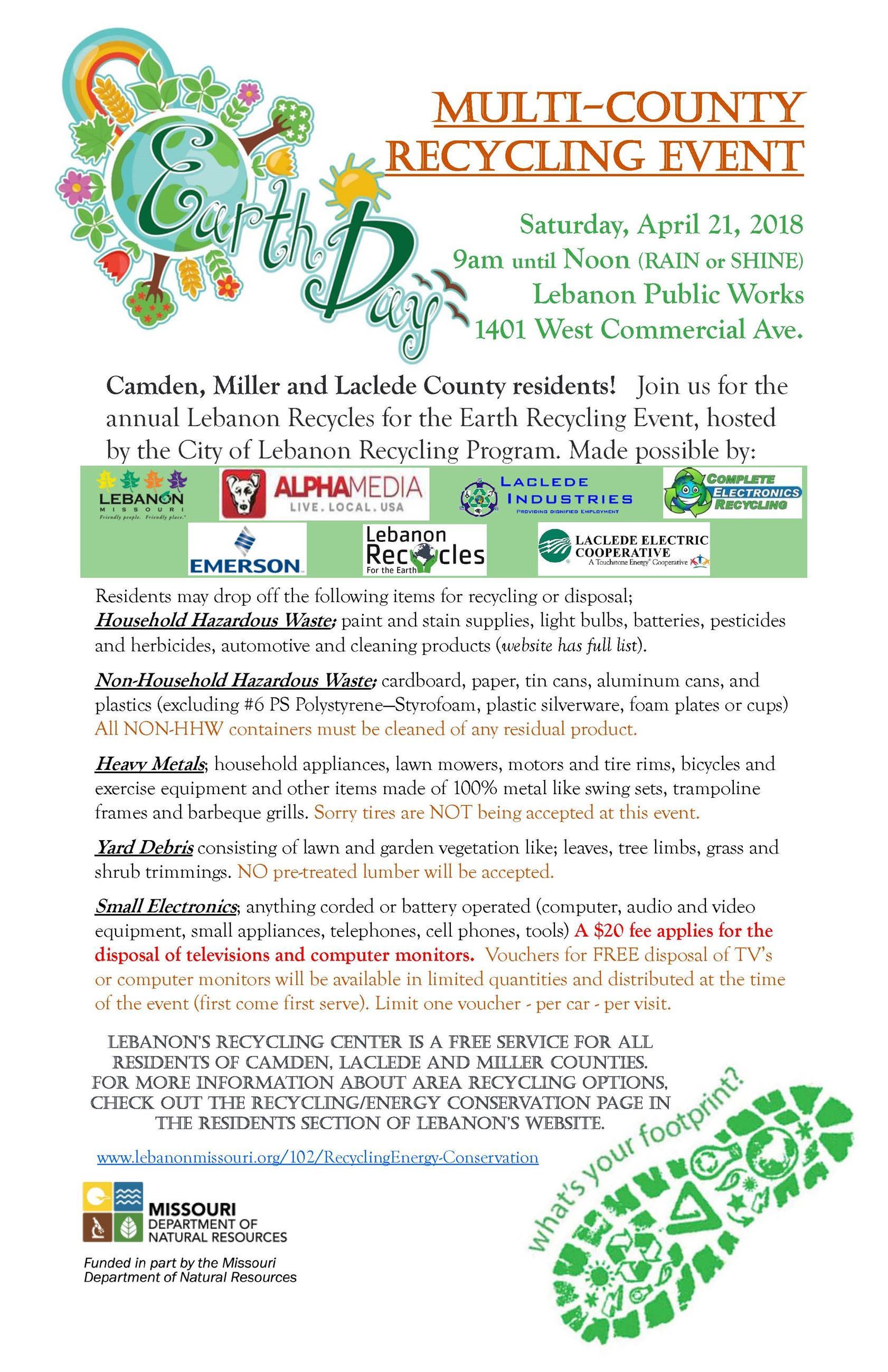 EARTH DAY event FLYER 2018 2