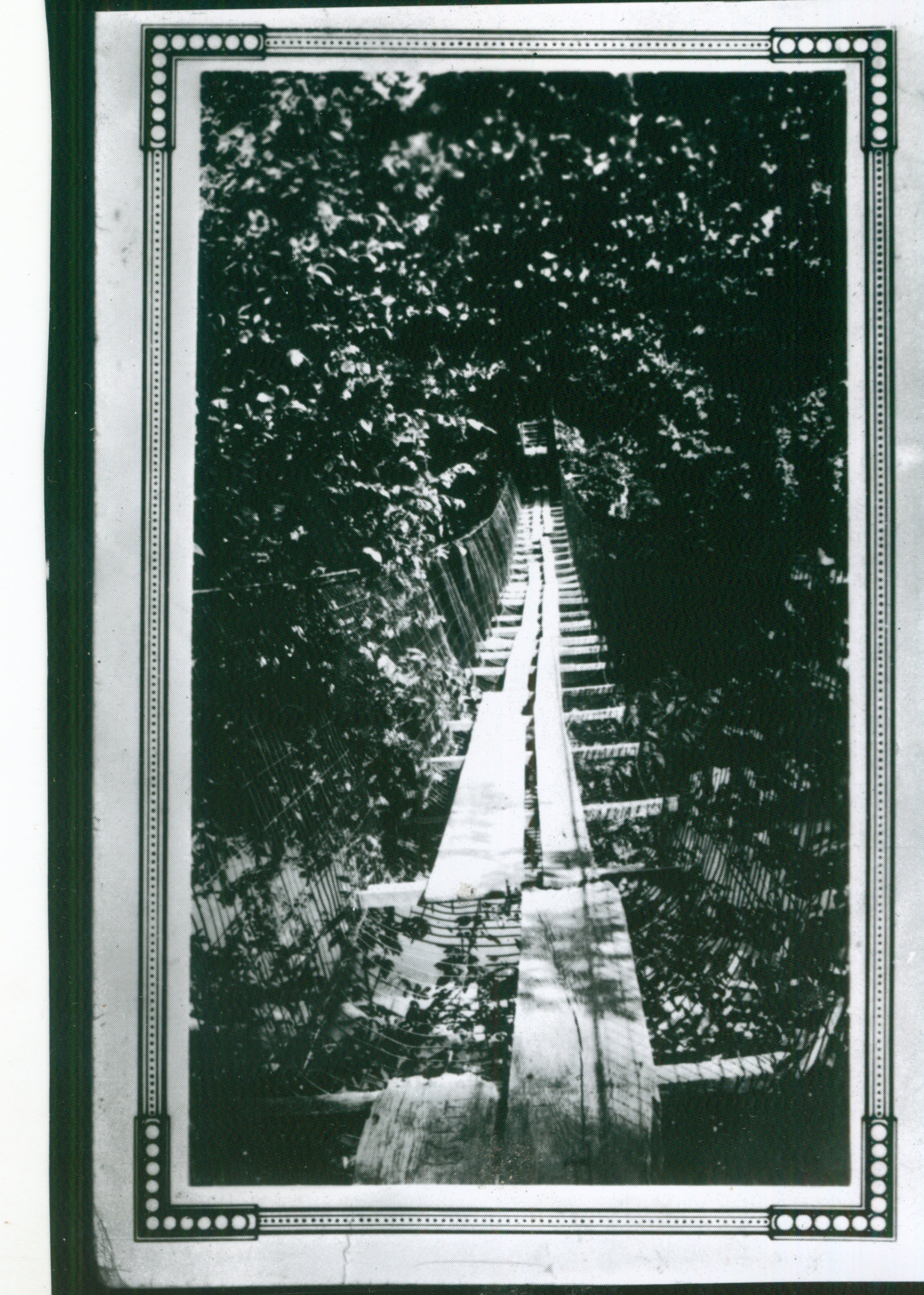 Swinging Bridge at Osage Fork