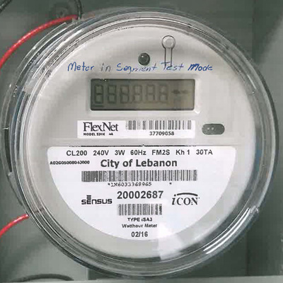 the display will read lse001 followed by a 5 digit number and the letters kwh this is the kilowatt hours used